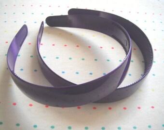 "Extra Wide Purple Plastic Headbands, 1"" Wide (2)"