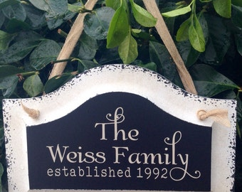 Family Name Sign, established sign, family gift