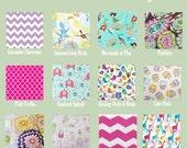 16x16 Sweet Bobbins  Wet Bag - U Pick Your Print -  Pick Strap Style - SEAM SEALED -  Wet Bag