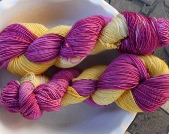 Bollywood Dreams --Classic Sock-- Hand Painted Superwash Merino Wool/Nylon Sock Yarn