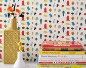 Removable Wallpaper // Gem Stones and Crystals // Gem Belushi Print //Perfect for renters and DIY crafters