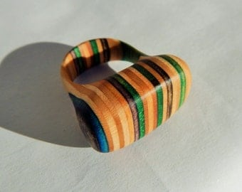 Recycled Skateboard Ring