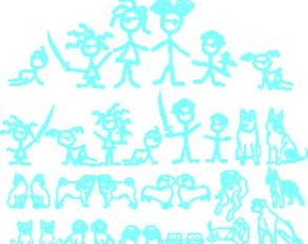 Pirates stick family person vinyl decal car sticker