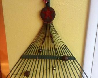 Christmas Tree from old green rake