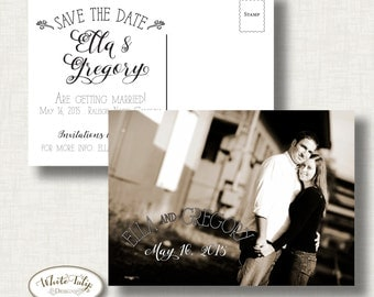 Printable -Save the Date - 2 sided - Ella design