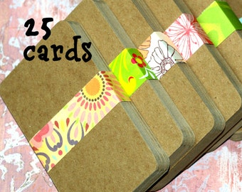 """3x5 Kraft Chipboard Cards (25) ... Lightweight .022"""" Thick Smooth Recycled Cardstock Recipe Cards Craft Supplies Kraft Cards Cardboard"""