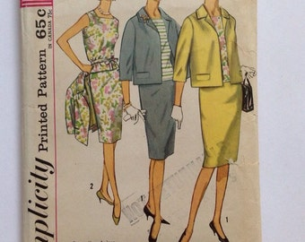 Vintage Simplicity 4800 Misses' Jackie O Suit and Blouse • size 12