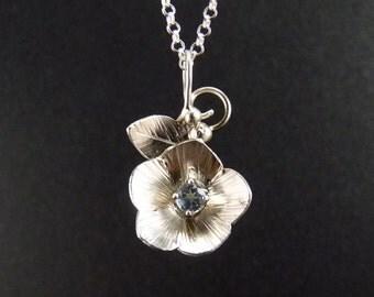 Flax Sterling Silver Pendant Handmade Metalwork