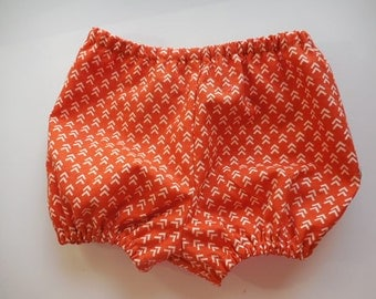 Baby, infant, toddler boy girls  bloomers diaper covers pumpkin orange color