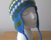 Crocheted Earflap Hat for Men and Boys