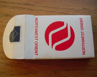 Vintage Deck of Cards Vintage Playing Cards Northwest Orient Airlines Playing Cards