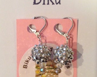 Holiday Sparkle Dangle Earrings in silver-toned crystal