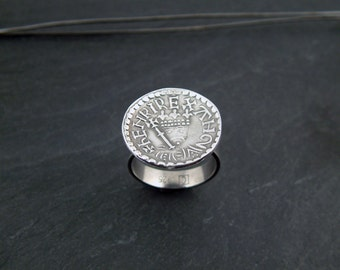 Coined Ring from Handcut Stamp Harkens to Henry II