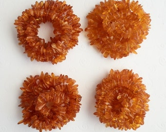 Sweet Deal : Set of 4 Genuine Natural Gradually Honey Baltic Amber Beads LONG Necklace Strands