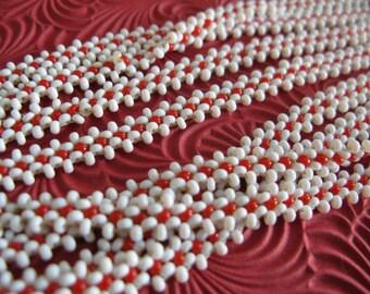 Handmade Vintage Woven Seed Bead Neacklace