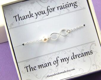Mother Of The Groom Gift Silver Infinity Bracelet - Gift Boxed Bracelet For Mother