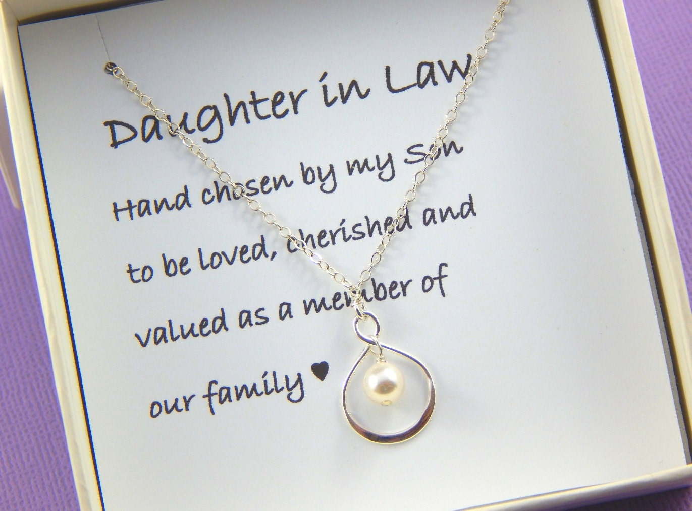 Daughter In Law Gift Daughter In Law Necklace Daughter Etsy