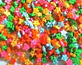 200 pcs tiny star button 4mm  mix color for doll crafts costume