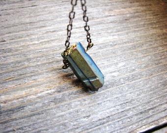 Quartz Pendant Necklace Crystal Point Necklace Stone Pendant Necklace Minimalist Jewelry Geology Gemstone Necklace Naturalist Jewelry