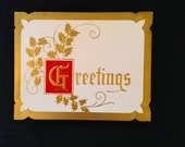 Vintage Holiday Christmas Greeting Card Set - Greetings Holly  Lot of 15 cards