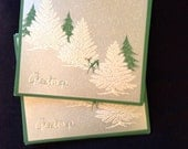 Vintage Holiday Christmas Greeting Card Set - Deer Greetings Lot of 10