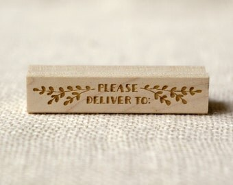 Rubber Stamp - Branchy Please Deliver To