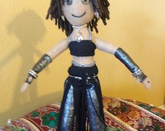 Belly Dance Umiz Tribal Fusion Doll, Handmade Doll, OOAK, Gift