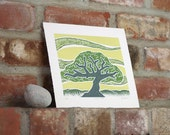 Woodcut Print, Tree Art, Tree Artwork, Nature Print