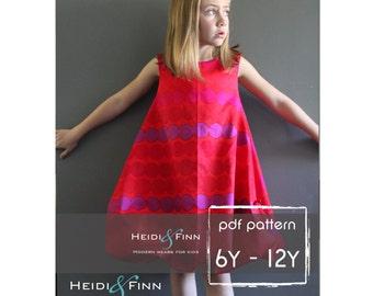 Bubble Dress Pattern and tutorial 6Y-12Y DIY pdf pattern EASY Sew