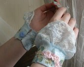 Something Blue Bridal Cuffs-One or the Pair
