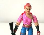 1980s GI Joe Action Figure - Zarana - 1986 Hasbro GI Joe Figure - Female Assassin - 80s Toy, Kids Toy