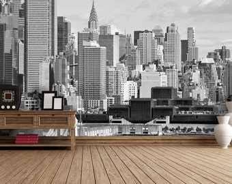 New York Hudson River Self Adhesive Wallpaper