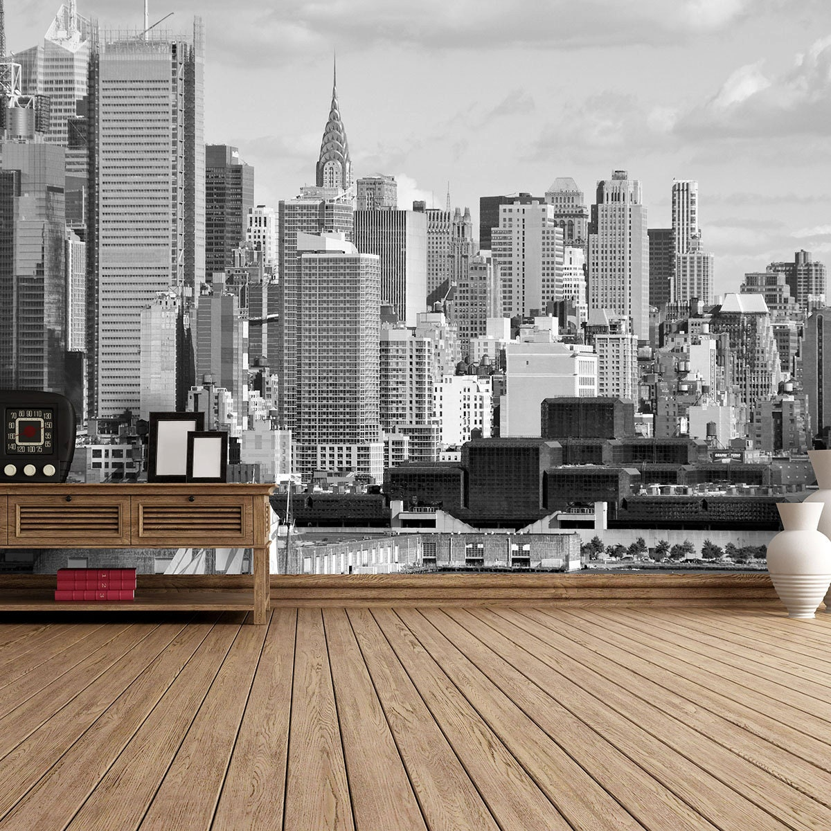 new york hudson river self adhesive wallpaper. Black Bedroom Furniture Sets. Home Design Ideas