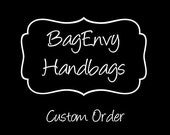 Custom Listing For (Nicole B) Custom Large Diaper Clutch