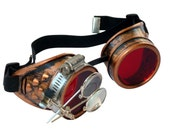 Steampunk Goggles Airship Captain Apocalyptic Mad Scientist Victorian Limited CC R