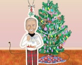 Holiday Cheer with Uncle Joe Paper Ornament