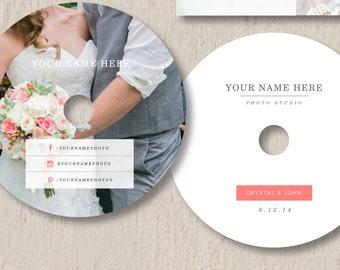 Wedding Photographer Templates - INSTANT DOWNLOAD - DVD Templates for Wedding Photographers (digital Photoshop files) - m0102