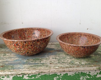 Retro Melmac Confetti Nesting Bowls, By Brookpark