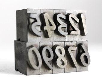NUMBERS - 48pt Metal Letterpress (Dom Diagonal)