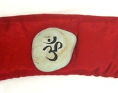 Deluxe Silk  Eye Pillow with  Lavender and Flax Seed Root Chakra Red for Yoga and Relaxation