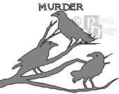 Murder of Crows Cross Stitch Pattern PDF