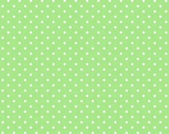 Sunrise Studio Limeade Dot  Cotton Fabric  by Lakehouse Dry Goods LH14029Lime