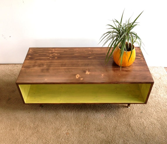 Coffee Table Handmade Mid Century Modern By Tinylionsdesigns