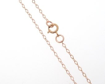 24 Inch Rose Gold Filled Cable Chain Necklace - Custom Lengths Available, Made in USA/Italy