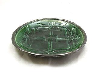 Dragonfly Celtic Bowl Handmade Pottery