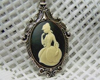 Marie Antoinette Necklace - French Revolution - France - Paris - Martha Washington - Colonial Era - Reenactment Statement  - Antiqued Silver