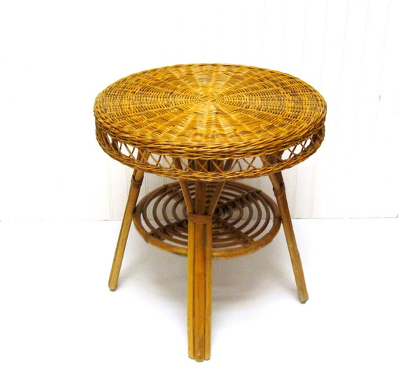 Rattan Side Tables Table