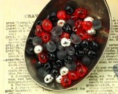 Gothic Obsession Fringe Bead Mix or Beads AND Jump Rings - 100% Guarantee