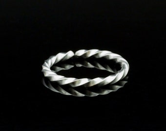 Simple Twisted Stainless Steel Adjustable Ring