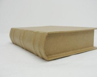 Paper mache book, hidden treasure book smaller of two